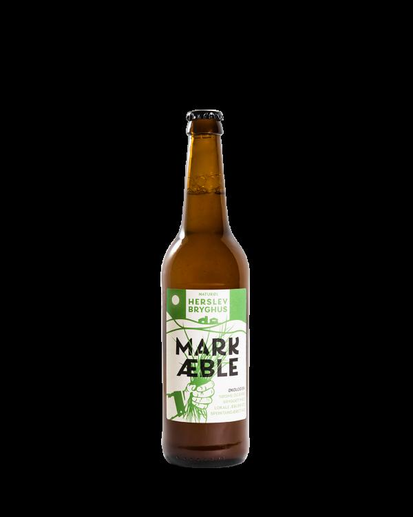 Perlende, spontangæret hø øl med æbler