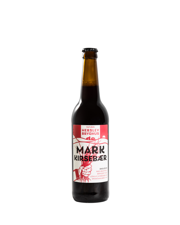 Spontangæret hø øl med lokale kirsebær