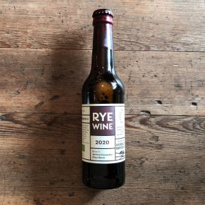 Spicy and deep organic rye wine