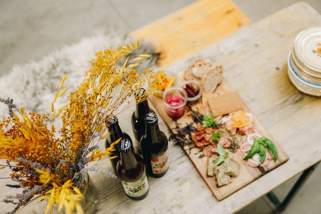 Øl og charcuteri på Herslev Bryghus